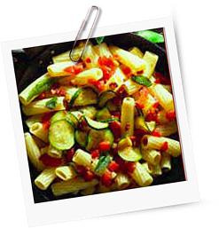 Rigatoni mit Parmaschinken und Zucchini