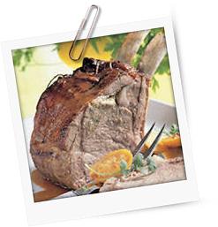 Kalbskotelettbraten mit Tunfisch-Kräuter-Paste