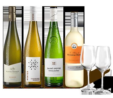 Probierpaket Bestbewertete Weißweine