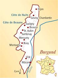 Côte Chalonnaise Frankreich