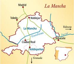 Valdepeñas Spanien