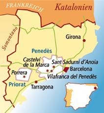 Penedes Spanien